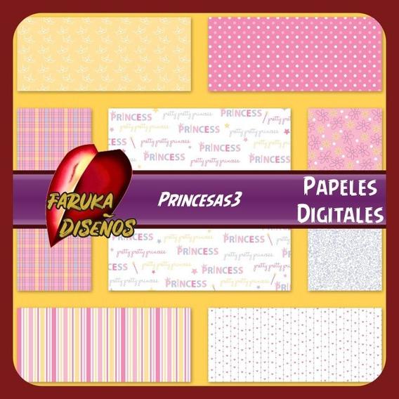 Papel Digital Imprimibles Princesas 3