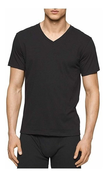 Calvin Klein- 3 Camisetas Medianas Cuello V Classic Fit