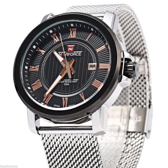 Relógio De Pulso Naviforce Luxo Esportivo Nf 9052