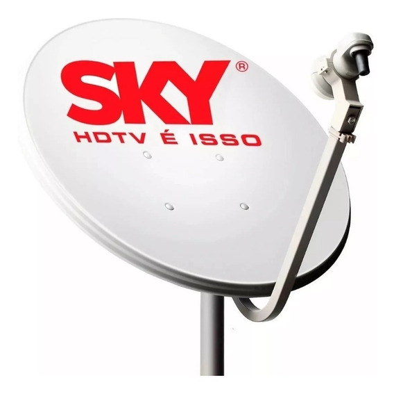 2 Antena Ku 60cm Com Lnb Simples E Cabo Promoção!!!