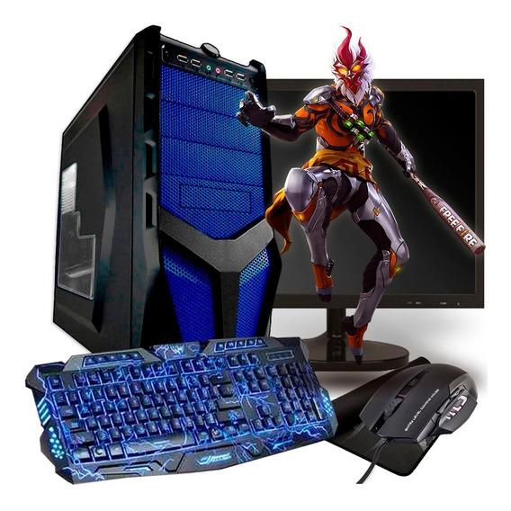 Pc Gamer Completo Barato / 500 Gb + Monitor / Free Fire