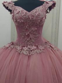 Vestido Xv Años Palo De Rosa