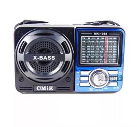 Rádio Portátil Am/fm/sw Entrada Usb Cartão Sd Pen Drive Mp3