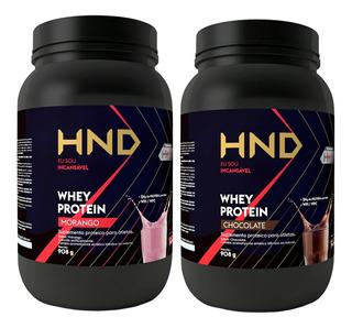 Kit Whey Protein 908g Proteinas Hnd