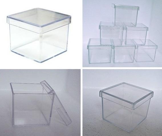 500 Caixinha De Acrilico 5x5 Transparente