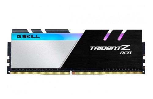 Memória RAM Trident Z Neo color Preto/Prateado  16GB 2x8GB G.Skill F4-3600C18D-16GTZN