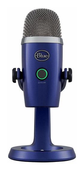 Microfone Blue Yeti Nano Condensador Usb Azul Vivo