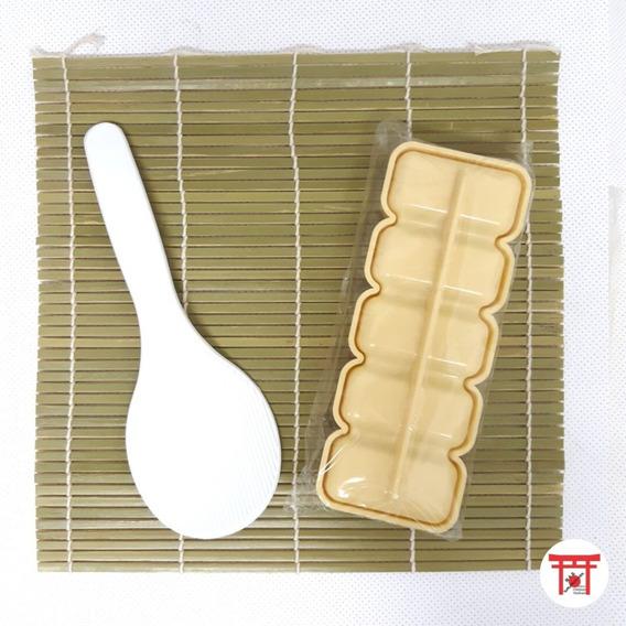Kit Para Sushi (chamoji + Esteira Sudare + Forma Niguiri)
