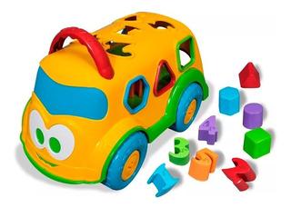 Brinquedo Didatico E Educativo Dino Onibus Escolar Amarelo