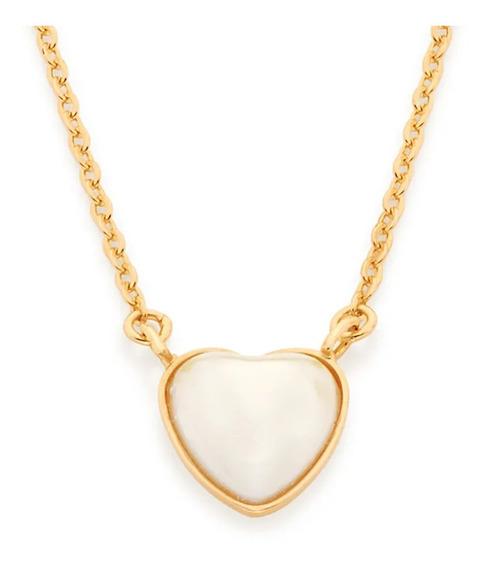 Gargantilha Rommanel Com Pingente Coração Perola 532018