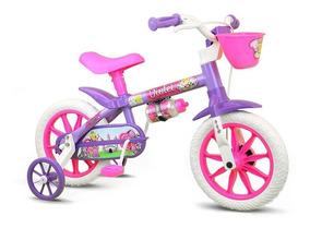 Bicicleta Rodinha Nathor Aro 12 Menina 2 A 5 Anos Infantil