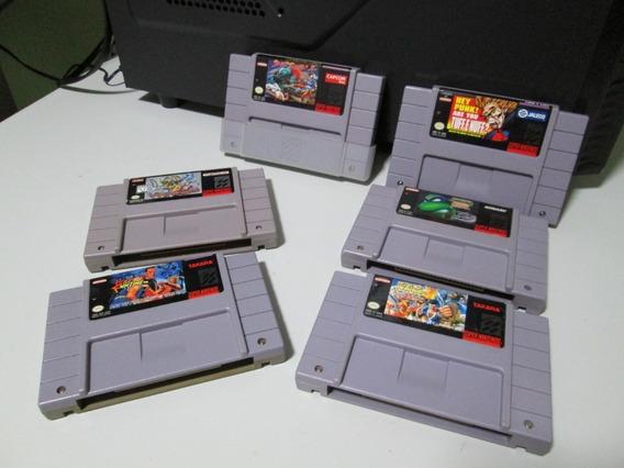 6 Jogos De Luta Para Super Nintendo (originais)