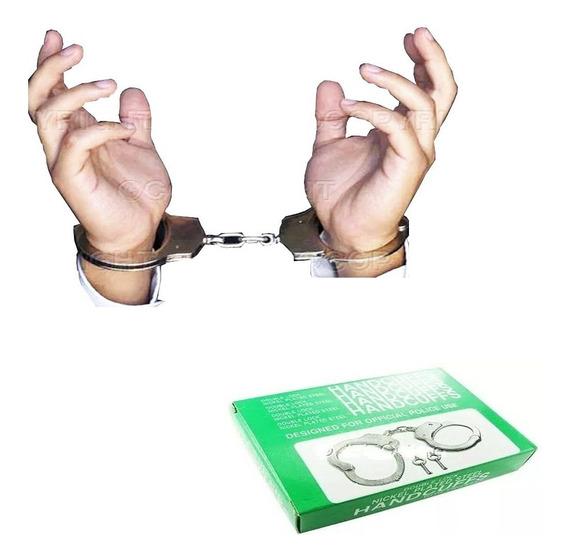 Algema Profissional Handcuffs Policiais E Vigilantes