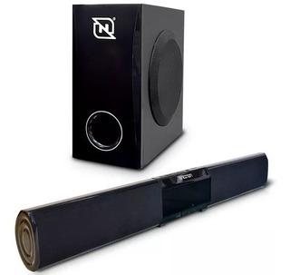 Barra De Sonido Bluetooth Con Subwoofer 2.1 Nsb-01 Necnon
