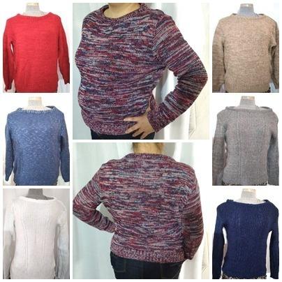 dabe57b6ab87 Lote 5 Blusa Gola Canoa Lã Feminino Frete Gratis Plus Size - R$ 169 ...