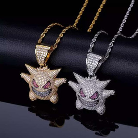 Colar Gengar Iced Out Brilhantes Swag