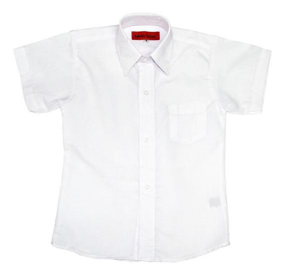 Set De 2 Camisa Manga Corta Palazzi Blanco #2 - 20 Escolar Unisex
