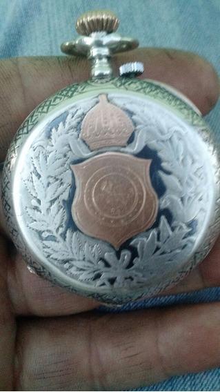 Vendo Lindo Relógio De Bolso Antigo Prata 900 E Ouro Francês