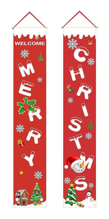 Letrero Feliz Navidad P/puerta Chimenea O Pared Decoración