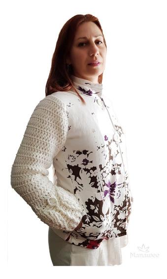 Saco Manawee Mujer Con Crochet