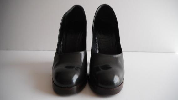 Zapatos Gucci Gris Antracita Original