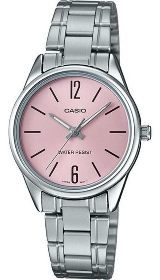 Relógio Casio Feminino Analógico Collection Fundo Rosa Ltp-v005d-4budf