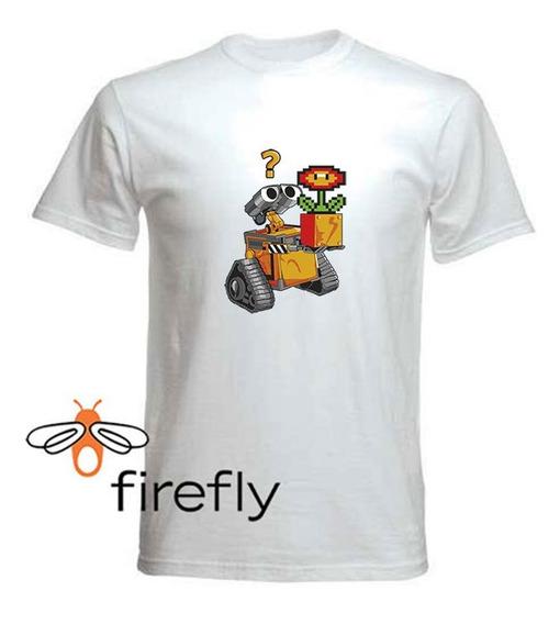 Remera Mario Bross Hombre Blanca Coleccion 1 Firefly