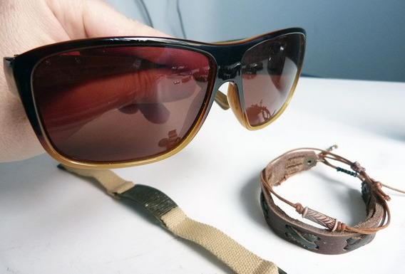 Lote Calvin Klein Armani Importado Sunglasses Pulseira Couro
