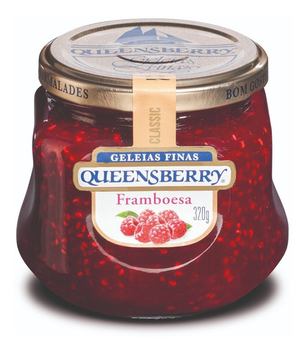 Pote Geleia Queensberry Classic Framboesa