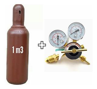 Cilindro De Argônio 1m3 + Regulador De Pressão