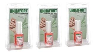 Kit 03 Bases Fortificante Para Unhas Unhafort 10ml - Muriel