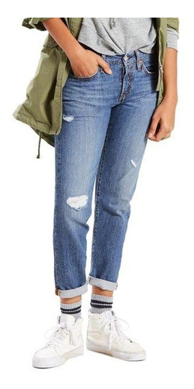 Calça Levi Strauss Jeans 501 Taper Puídos