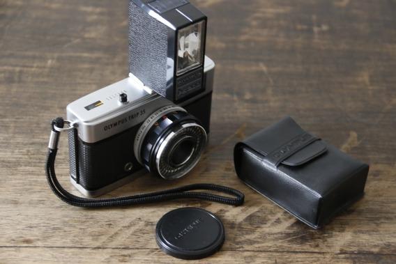 Câmera Olympus Trip 35 Com Flash Olympus Ps200