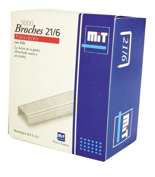 Broches Mit Para Abrochadora Nº21/6 X 5000 Unidades