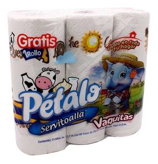 Servitoalla Pétalo 3 Rollos De 60 Hojas C/u