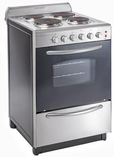 Cocina Electrica Domec Acero Cexg 4 Hornalla 56cm