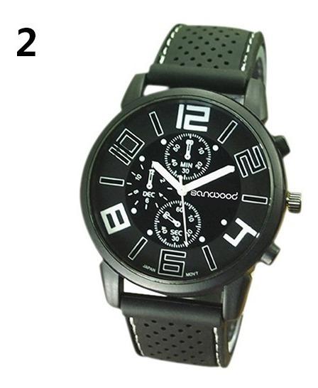 Relógio Masculino Sport De Luxo Sanwood Pulseira Silicone