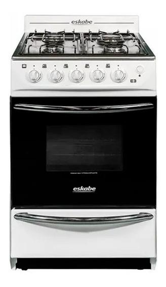 Cocina Eskabe E3 4 Hornallas 52cm Blanca Inoxidable Parrilla