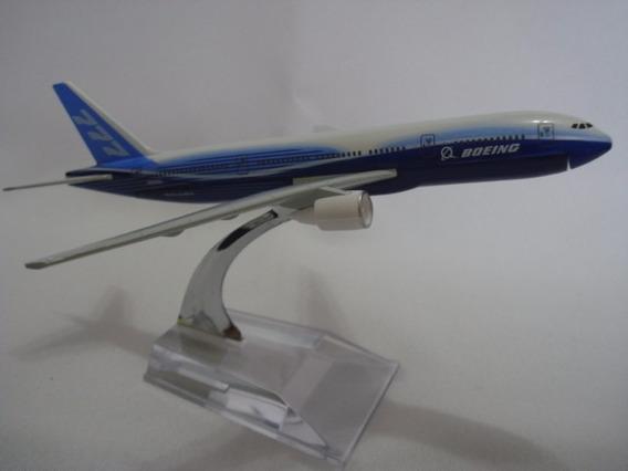 Kit 3 Aviões Airbus Boeing 777 A380 E Boeing 747-8 Miniatura