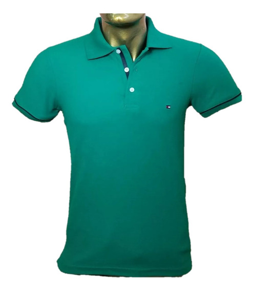 Playera Tommy Color Verde Caballero