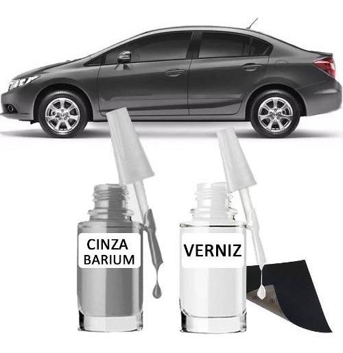 Tinta Tira Risco Automotivo Honda Civic Cor Cinza Barium