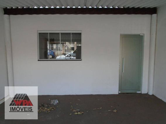 Casa Com 1 Dormitório Para Alugar, 50 M² Por R$ 550,00/mês - Parque Planalto - Santa Bárbara D