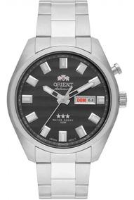 Relógio Orient Masculino Automático 469ss076 G1sx Aço Prata