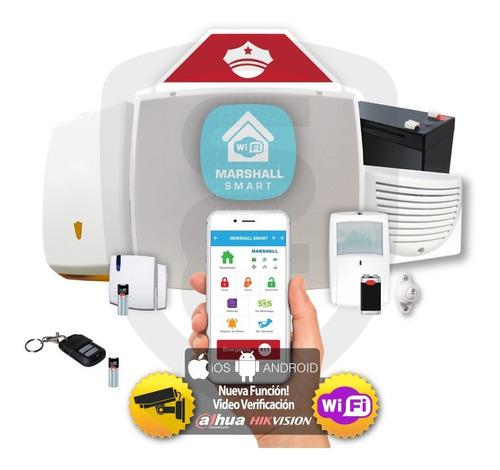 Kit Alarma Inalámbrica Marshall Ip Wifi Aplicacion Para Celular Marshall Smart Alarma Domiciliaria Casa Comercio