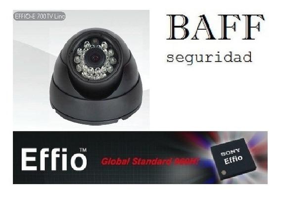Camara Seguridad Sony Effio700tvl Exterior Domo Metalico