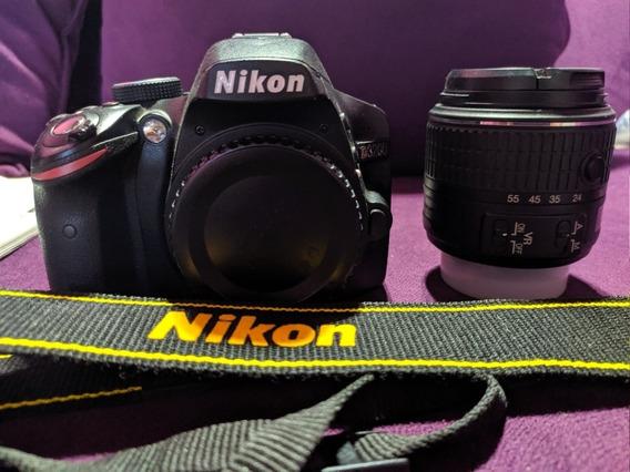 Nikon D3200 + Lente 18-55 Cómo Nueva!! 4441 Disparos