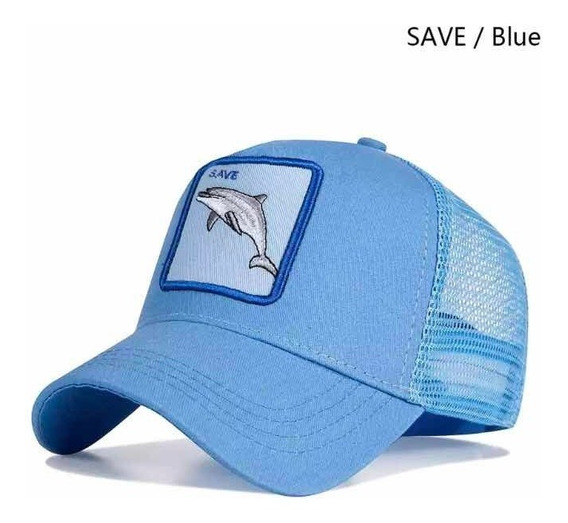Gorra Delfín Bordada Animales Unisex Envío Gratis Azul Cielo