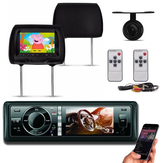 Dvd Player Htech 3 Polegadas Hdv30bt Bluetooth + Par Encosto