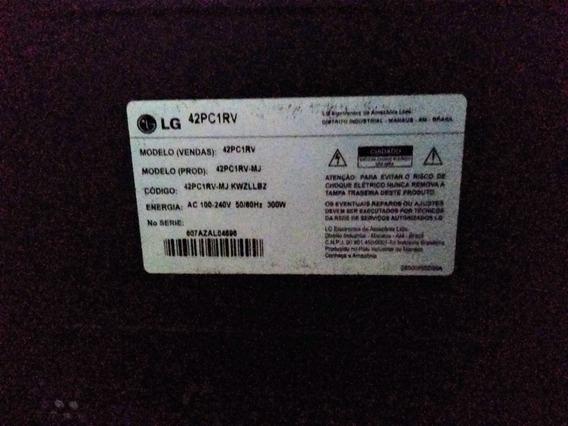 Tv Plasma Lg 42 Pc1rv (não Liga) - Para Retirar Peças