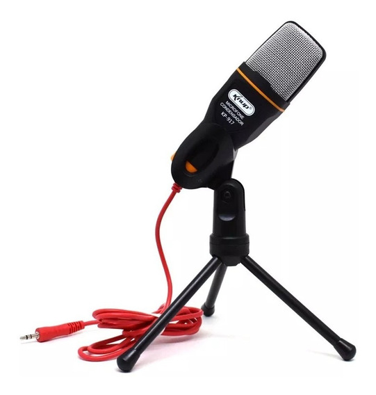 Microfone Condensador Knup Kp-917 - Ideal Para Smartphone Pc